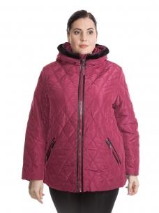 Модная зимняя куртка женская большого размера 60